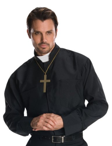 Disfraz de cura para hombre, camisa y accesorios, Talla única ...
