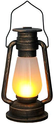 Tronje LED Grubenlampe antike Kupferoptik 4h-Timer 24 LEDs Feuersimulation lodernde Flammen Deko-Lampe Feuerschein