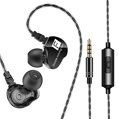 Mikrofon Doppelkopf,Dual Lavalier Mikrofone,Quad-Core Dual-Action-HIFI-Headset,Geeignet für Handys, Computer, MP3 und Tablets (schwarz)