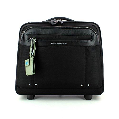 Piquadro Link Bagaglio a Mano Pilot Case, Nylon, Nero, 33 Litri, 45 cm