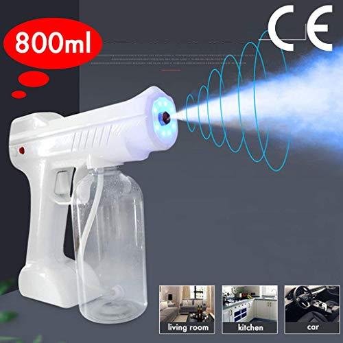 BATOWE Sprayer Electric Sprayer, Disinfection Blue Light Nano Steam Gun Ultra Fine Aerosol Water Mist Trigger for Home Bedroom Car Kitchen,Schools,Clothes,Hair Care Spa