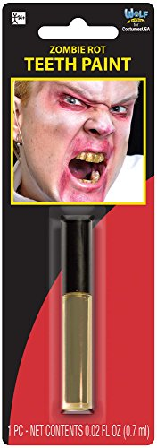 Amscan 8400798 Zombie Rot Teeth Paint - Gold
