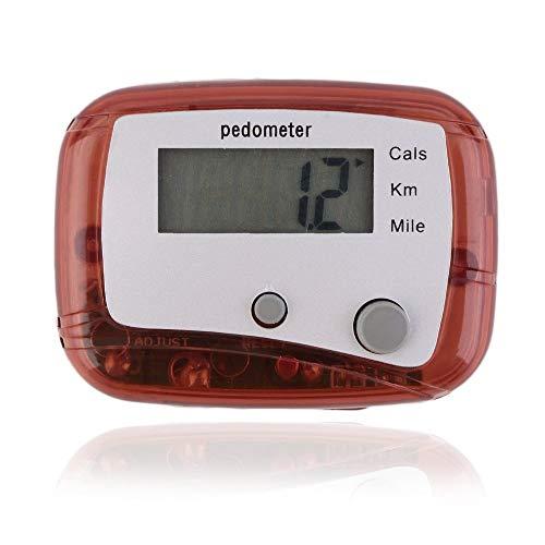 Leichtes Design Gürtelclip für die einfache Verwendung Mini Digital LCD Run Schrittzähler Walking Distance Counter ABS bis zu 99999 Schritte