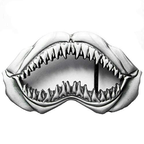 Piratenladen Buckle Shark, Hai, Haifischmaul, Zahn - Gürtelschnalle
