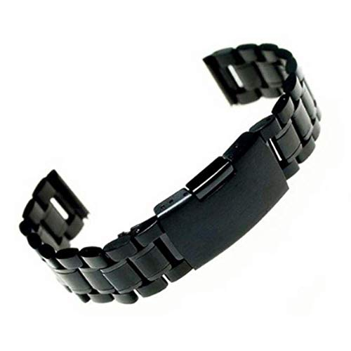 Bandas de Reloj, Accesorios de Reloj 18 Mm / 20 Mm / 22 Mm Reloj de Acero Inoxidable Pulsera Tira Pulsera Correa de Metal Negro