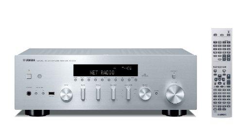 Yamaha R-N500 Stereo Netzwerk-Receiver mit AirPlay und App Steuerung silber