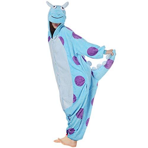 Wealsex Pijamas Unisexo Hombre Mujer Traje Disfraz Animal Pyjamas Cosplay Monstruo L