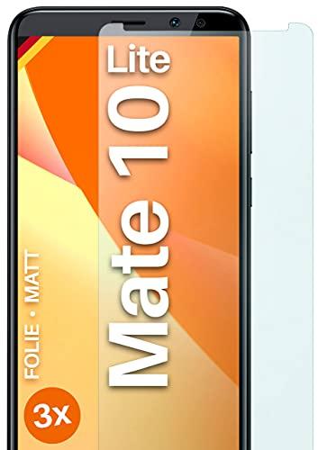 moex Schutzfolie matt kompatibel mit Huawei Mate 10 Lite - Folie gegen Reflexionen, Anti Reflex Bildschirmschutz, Matte Bildschirmfolie - 3X Stück