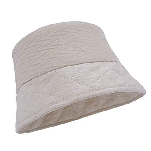 HT LT Sombrero de Cubo otoño otoño Invierno cálido Cubo Sombrero de Color sólido, Negro