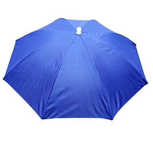 Hut als Sonnenschutz, elastisch, gerader Hut, Regenschutz, Angeln, Sonnenschirm, Tee, Sonnenhut, 55 cm Durchmesser, für Angeln, Garten, Fotografie, Wandern, Königsblau (Blau) - LINKLANK-123