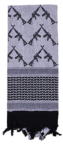 Rothco Crossed Rifles Shemagh Tactical Desert Keffiyeh Scarf, White