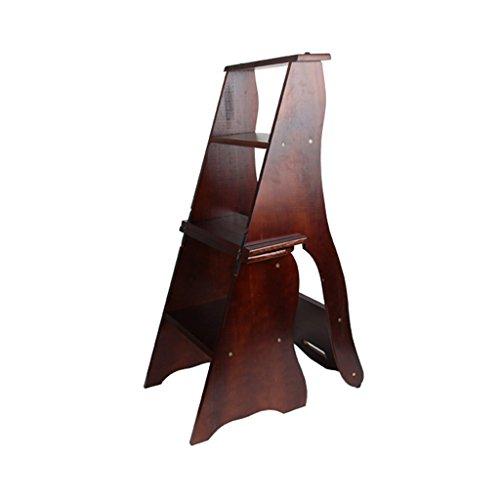 Flashing 4 klapstoel, multifunctioneel, van massief hout, dubbel gebruik, stoel, kruk, keuken, thuis