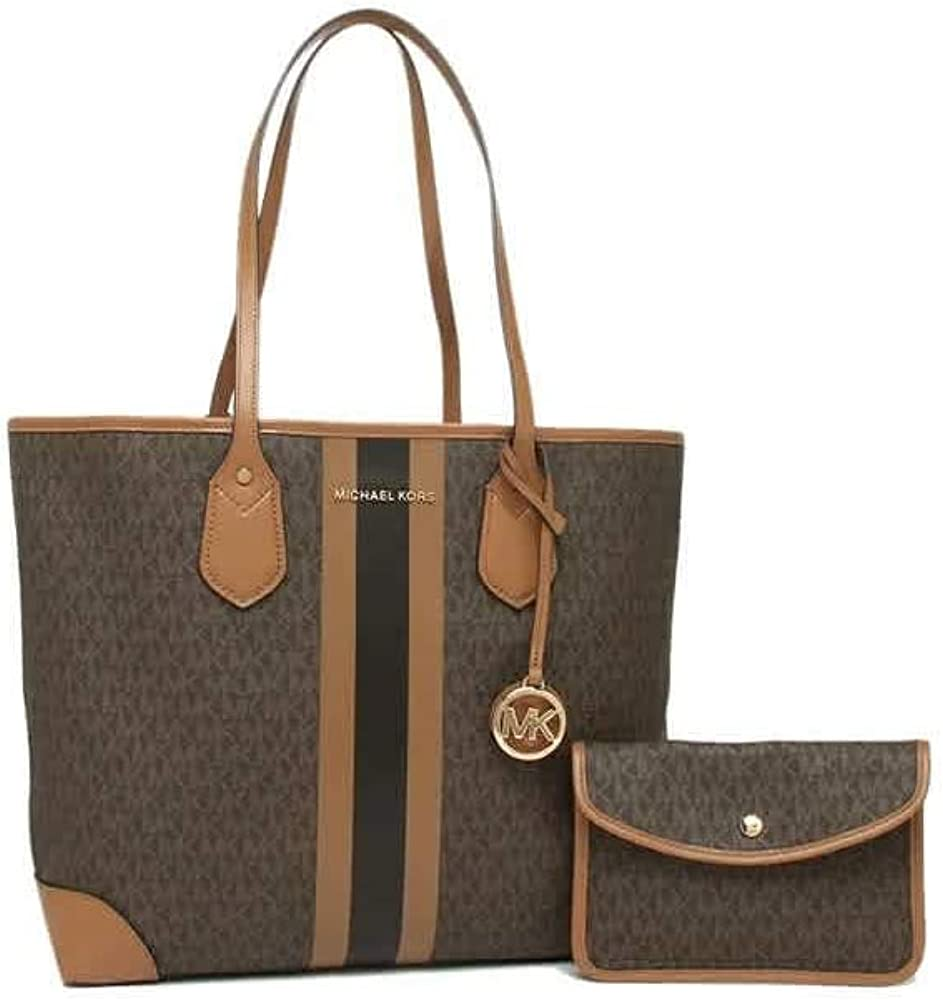 Michael Kors Eva Large-scale Max 87% OFF sale Large Tote Brown One Acorn Size