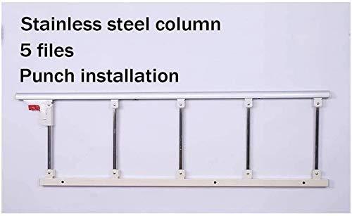 XHCP Tragbare Haltegriffe für ältere Betten Haltegriffe aus Edelstahl mit behindertengerechtem Bett Anti-Fall-Sicherheitsbarriere für Erwachsene oder ältere Betten 820 (Größe: 120 x 40