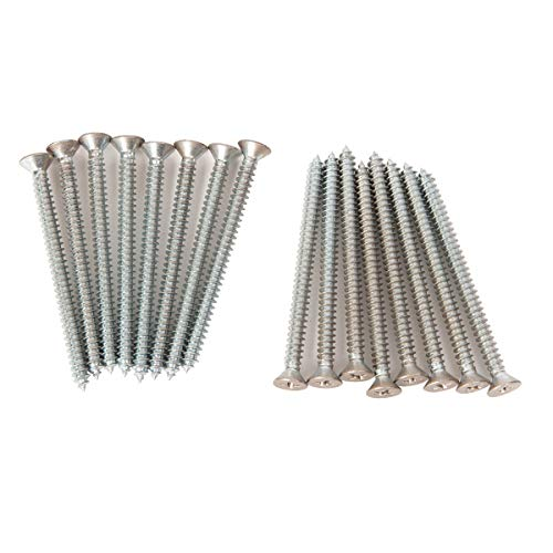 Closet Culture by Knape & Vogt Hardware Pack: Standard & Hang Rail Mounting Flat Head Screws (Silver)