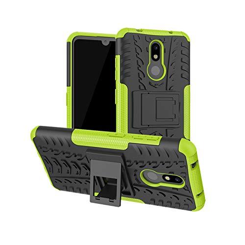betterfon | Nokia 3.2 hülle Outdoor Handy Tasche Hybrid Hülle Schutz Panzer TPU Silikon Hard Cover Bumper für Nokia 3.2 Grün