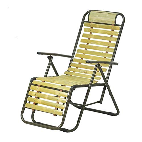 Fauteuil inclinable Pliant Garden Beach Chaises Longues Zero Gravity Sun Loungers Fauteuil Relaxer Bamboo