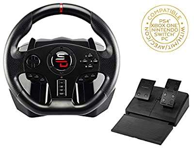 Superdrive - SV700 racing wheel with pedals, paddle shifters and vibrations - PS4, Xbox One, Switch, PC, PS3 (compatible with all games)
