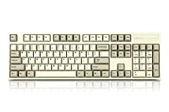 Switch type: Cherry MX Brown Keycaps: White Double Shot PBT LED Backlighting: none Size: Full Size
