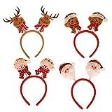 Juego de 6 gafas de Navidad con forma de árbol de Navidad, adornos navideños, vasos divertidos para vacaciones, decoración, cosplay, 4 unidades
