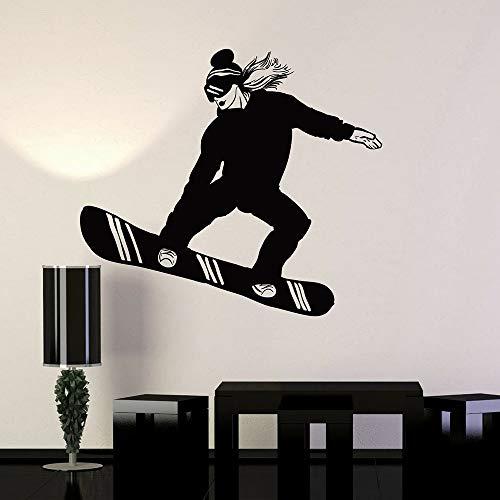 Tianpengyuanshuai muurstickers voor extreme sporten voor dames, snowboarden, muurstickers van vinyl voor snowboardtype voor woonkamer