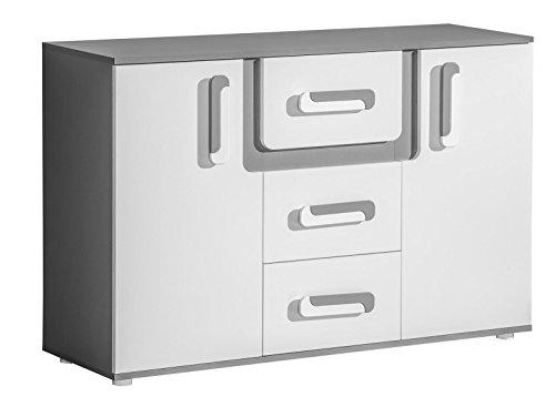 SMARTBett GmbH Cómoda Abetito gris y blanco