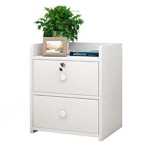 GXYWPJ Table de Chevet en Bois Simple avec Armoire de Rangement pour tiroir Chambre à Coucher Chevet Petite Armoire Stable (Couleur : Blanc)