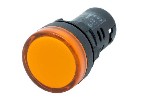 Alpinetech L22 22mm AC LED Pilot Panel Indicator Light 120V (Yellow)
