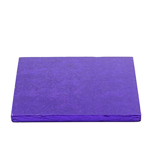 Decora 0931848 Carton pour GÂTEAU CARRÉ Violet 35X35X1,2H, Paper, 35 x 35 x 1,2 cm