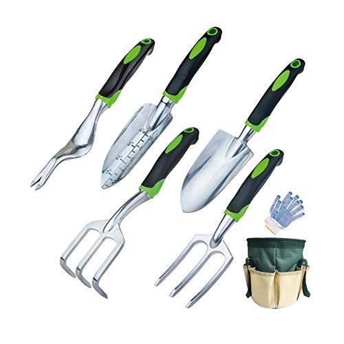 Jardín conjuntos de herramientas de jardín Conjunto de siete piezas Herramienta de jardín Trowel Bonsai Pala de rastrillo Cultivador Manija ergonómica Jardín Transplante Transplante Herramientas de We