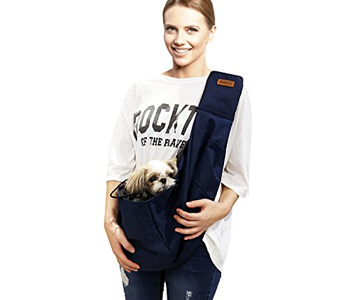 RETRO PUG Pet Carrier for Small and Medium Dogs,Cat - Pet Sling Purse - Front Pack - Travel Puppy Carrying Bag - Pet Pouch - Adjustable Shoulder Strap - Premium Dog Carrier - 15~20 lbs