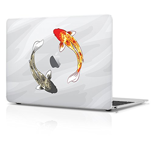 Macbook Pro 13 inch Plastic Matte Hard Case, Swimming Koi fish Design, ONLY Compatible with the Macbook model number A1706/A1708