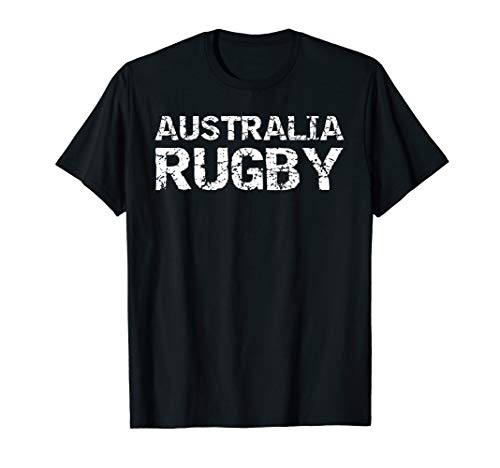Distressed Rugby Quote Gift for Men Australia Rugby T-Shirt