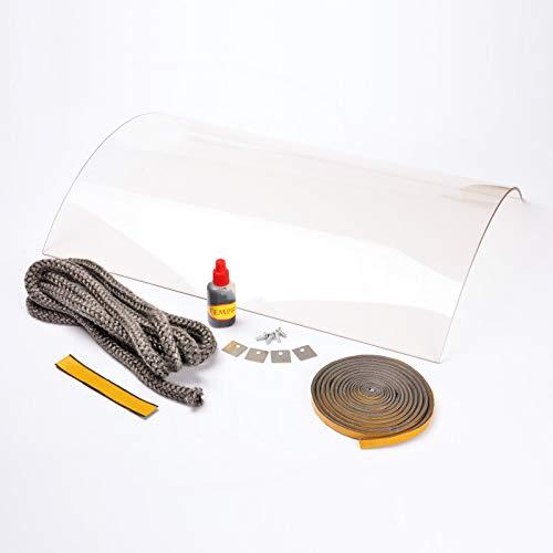 Kaminglas und Ofenglas passend für Nibe Contura 600er Serie | Temperaturbeständig bis 800° C | » Wunschmaße auf Anfrage « | Markenqualität in Erstausrüsterqualität