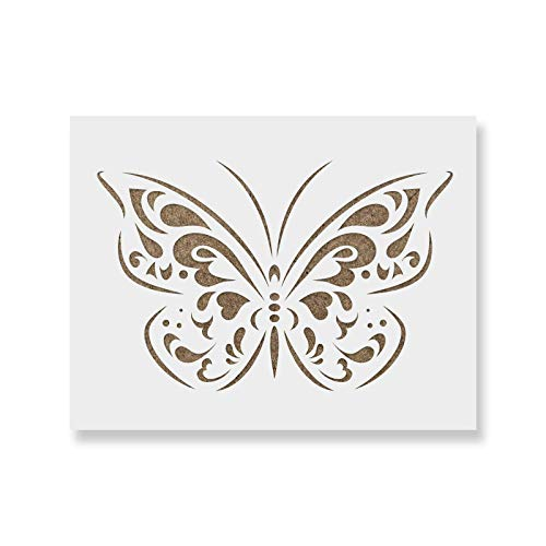Butterfly Stencil Template - Reusable Stencil with Multiple Sizes Available