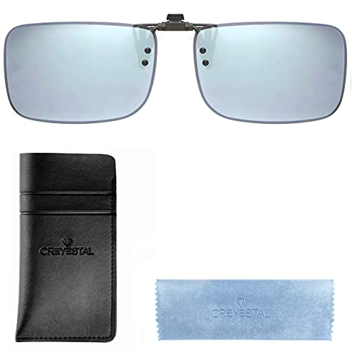 CREYESTAL Clip Occhiali Da Sole Polarizzati, Clip per Occhiali, Sovraocchiali Sollevabile e ultraleggero, Uomo, Donna, 100% ANTI UV, Certificato CE