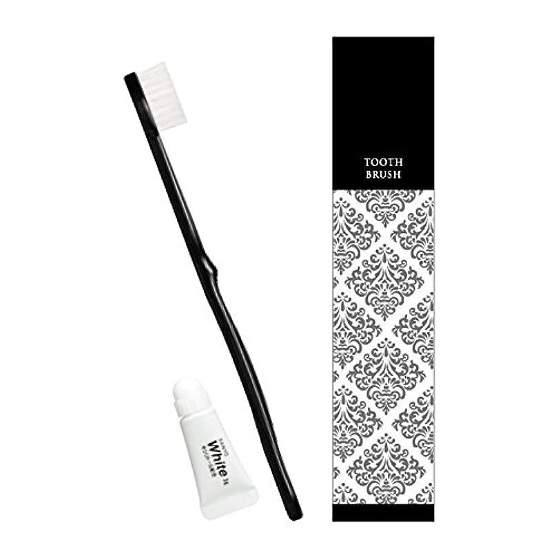 飼料ラフレシアアルノルディ服を着るピエンタ ホテル業務用ハブラシ(黒)28穴 3gチューブ付 250本