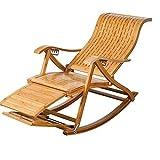 FTFTO Office Life Zero Gravity Chair Butaca Mecedora, bambú con Bolas de Masaje para los pies, Almuerzo, Silla Perezosa, butaca Plegable, diseño de Pedal retráctil, Tumbona