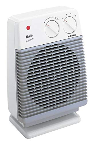 Fakir HL 600 Hobby / Heizlüfter , Badheizlüfter, Tischventilator, mit 2 Heizstufen, inkl. Thermostatventil, extra leise – 2.000 Watt