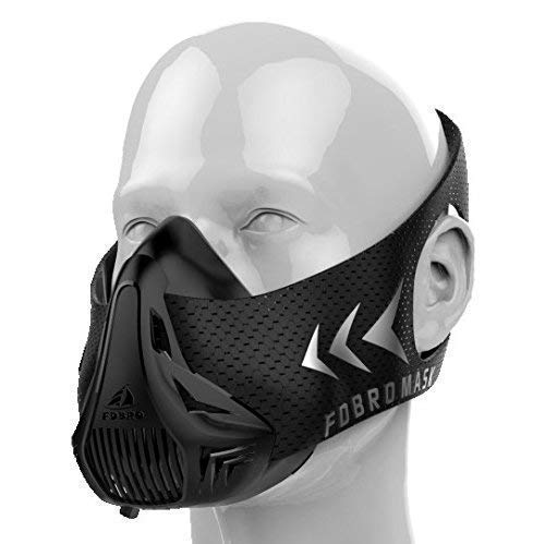 FDBRO Höhentraining Maske, simuliert Höhenluft, Trainingsmaske Für ausdauer und sportlichen Betätigungen geeignet, atemmaske (M/70-100kg)