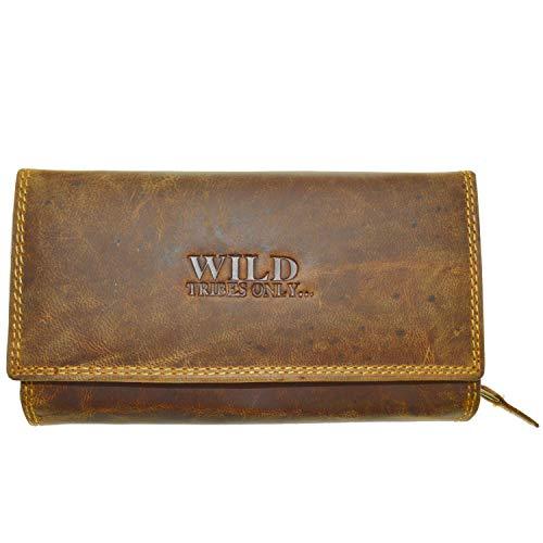 Portemonnaie Damen Wild Leder Geldbeutel mit RFID Schutz Wild Tribes Only