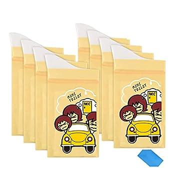Sacs à Urines jetable 8Pcs Sacs d'urine Vomissements Sacs de pipi Paquets super absorbants Portable Trafic Toilettes Voyage Camping Sac à déchets pour personnes âgées, femmes, hommes, enfants (600 ml)