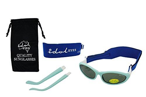 Baby Wrapz 2Convertible occhiali da sole 0–5anni con 2fasce & Attachable Arms (luce blu)