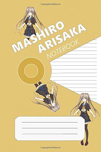 Mashiro Arisaka Notebook: Ao No Kanata No Four Rhythm, Mashiro, 112 Lined Pages, 6 x 9 in, Anime Notebook Diamond
