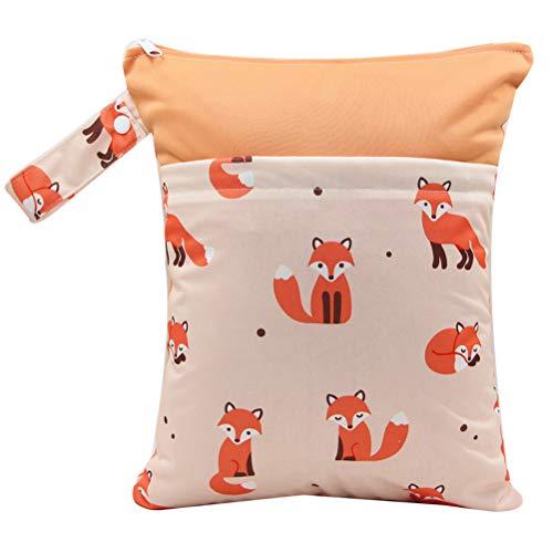 YeahiBaby Windeltasche Wickeltasche mit Bügel Tragbar Wasserdicht Wiederverwendbar (Fuchs)