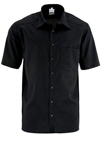 Herren Hemd Comfort Fit Kurzarm, XL (43), 43, Farbe: Schwarz