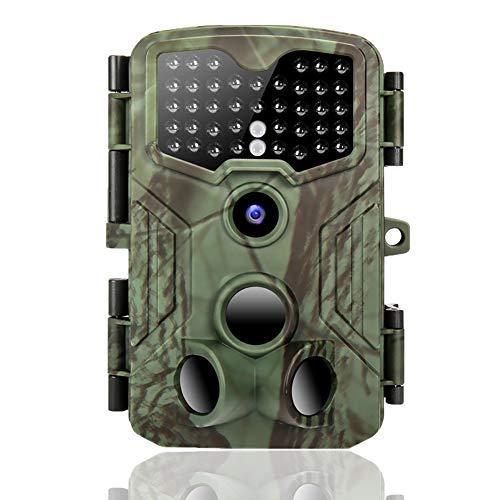 Wildkamera 16MP 1080P 120°wildtierkamera mit 3 Bewegungsaktivierten Sensoren 0,2s Auslösezeit IP54 wasserdichte Nachtsichtkamera