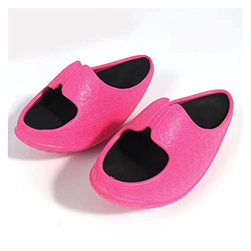 ÉCHOS Chaussures de perte de poids cassé une jambe mince jambe brace artefact Shake Shake Shake Shake Mince Body Coins Femmes Pantoufles 2021 NOUVEAU ( Color : Mei red , Plug Type : Small 35-37 code )