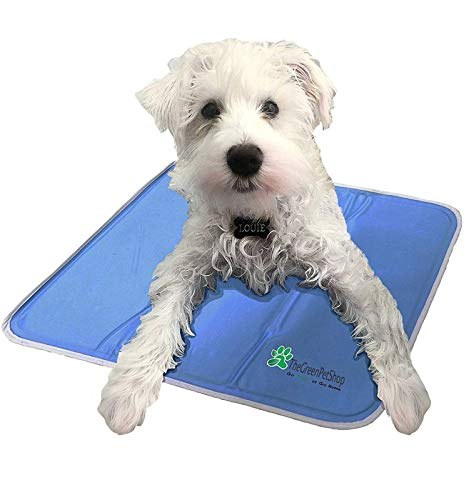 The Green Pet Shop Dog Cooling Mat - Pressure-Activated Gel Cooling Mat For Dogs, Medium Size - This...