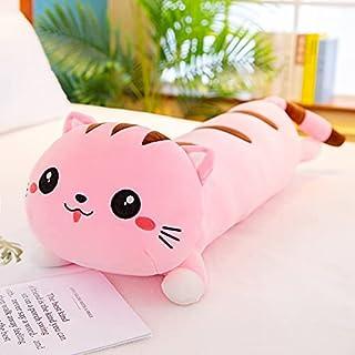 90-110 cm kat knuffel lange gestreepte benen slapen kussen bed pop pop super zachte lappenpop beer schattig meisje 70 cm roze